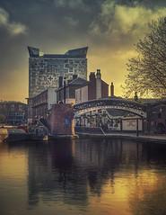 Gas Street Basin Birmingham (seantindale) Tags: birmingham england uk sunset city architecture olympus omdem5markii reflection waterrefection