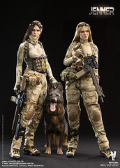 VERYCOOL TOYS VCF-2037 ABC A-TACS FG Women Soldier-JENNER+German Shepherd Dog Set - 01 (Lord Dragon 龍王爺) Tags: 16scale 12inscale onesixthscale actionfigure doll hot toys verycool female