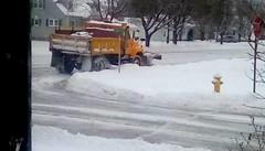 Snow clearance! (Maenette1) Tags: snowplow snowstorm street cleanup menominee uppermichigan flicker365 allthingsmichigan absolutemichigan projectmichigan michigansnow
