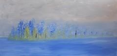Winters blue (Xtraphoto) Tags: winter kunst art acrylic acryl malen painting bild keilrahmen canvas
