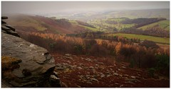Today it mainly rained. (A tramp in the hills) Tags: derbyshire stanageedge peakdistrict