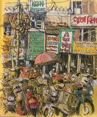 Ahmedabad (Peter Rush - drawings) Tags: india drawing sketch ahmedabad