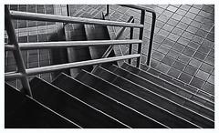 Pentax Auto 110 (1978) (Black and White Fine Art) Tags: pentaxauto1101978 pentax11024mmf28 pentaxmini pentax 110format formato110 smallformat formatopequeño bn bw escaleras stairs sanjuan oldsanjuan viejosanjuan puertorico estacionamientocovadonga covadongaparkinglot light luz shadow sombra