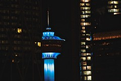 cool in Calgary (zawaski -- Thank you for your visits & comments) Tags: ©2019zawaski calgary nite night tower blueoffices handheld brr