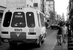 Taking the bus in Mexico City (gcarmilla) Tags: bw biancoenero blackandwhite monochrome city mexicocity ciudaddemexico ciudad città cittadelmessico bus autobus street