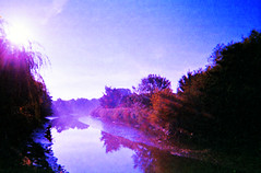 morning on the River Medway (»alex«) Tags: film scan old outofdate disposable camera river medway landscape morning kent maidstone tide peacefull reflections