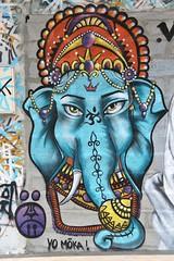 Ganesha (just.Luc) Tags: ganesha god dieu elephant olifant éléphant elefant deity gott blue bleu blauw blau azul graffiti grafitti urbanart streetart bordeaux gironde nouvelleaquitaine france frankrijk frankreich francia frança europa europe wall mur muur mauer