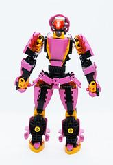 Toa Kelsifa - Back (0nuku) Tags: bionicle lego toa fire ta pink mace flail elves 3dprint punkdrunk182 exota kafai magnetism