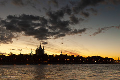 Neva river (VladimirTro) Tags: россия река архитектура санктпетербург свет собор собака вода фото фотография закат небо набережная нева ночь russia russian river saintpetersburg sky sunset canon colour cityscape city cloud colourful clouds church waterscape water dslr dark eos europe 24mm photography photo light landscape canon500d