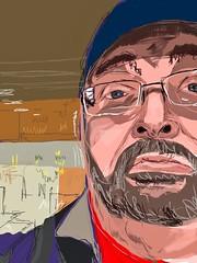 Face 79:100 #digitaldrawing #selfie (Howard TJ) Tags: ipad sketchclub face drawing male 100facechallenge sketch digitaldrawing selfie