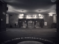 """Carlo Felice Theater"" (giannipaoloziliani) Tags: theater teatro flickr monochrome monocromatico architecture architettura facade liguria lightandshadow italy italia genoa genova downtown city minimal minimalismo carlofelice biancoenero blackandwhite iphonephotography iphone"