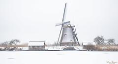 Silence (Wim Boon Fotografie) Tags: winter windmill winterlicht winterlandschap winter2018 molen ice holland nederland netherlands alblasserwaard alblasserdam canoneos5dmarkiii canonef1635mmf4lisusm sneeuw snow unescoworldheritage