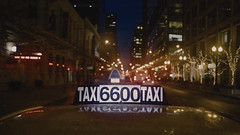 🚕  TAXI CAB 6600 (Jovan Jimenez) Tags: 📷 canon eos m3 efm 22mm f2 stm 🚕 cab cinematic streetphotography night bokeh chicago yellow