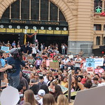 Occupation in front of Flinders st clocks - Melbourne climate march for our future - #stopAdani - IMG_3932 thumbnail