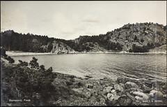 Postkort fra Agder (Avtrykket) Tags: strand fjellknaus postkort sjø svaberg grimstad austagder norway nor