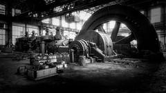 Big One (spluvinet) Tags: abandoned industrial decay noiretblanc blackandwhite steel rust