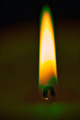 Fire of candle (donnicky) Tags: blackbackground burning candle closeup dark fire flame indoors light macro nopeople publicsec stilllife studioshot