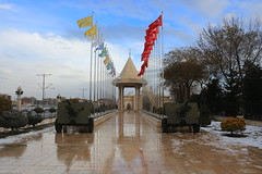 Bayraklar (Mehmet Çok) Tags: bayrak toparabası kubbe meydan mevlana müze su water yansıma kırmızı red anatolia anadolu turkey karatay seljuks ottoman flama canoneos700d canon