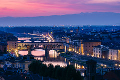 Florence 2 (cliffwilliams449) Tags: blue florence firenze tuscany italy night pontevechio