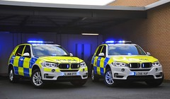BMW X5s (S11 AUN) Tags: cleveland police bmw x5 anpr armed response car arv traffic rpu roads policing unit 999 emergency vehicle lc66xuf durham xdrive30d 4x4 firearms support demonstrator demo bmwcarsuk lj68ztt