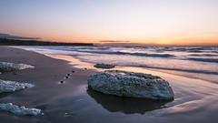 Summer evening at the beach (frcrossnacreevy) Tags: beach causewaycoast nikond300 sunset whiteparkbay northernireland countyantrim northatlantic