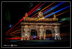 Porte des Bombes HDR. (Tony Sammut) Tags: canoneos550d canon canoniani canonef24105mmf4lisusm colours cokin ndfilters nightphotography nocturne niksoftware night outdoor lights lighttrails lightroom longexposure beautifulcapture bulbmode cullmann portesdesbombes malta maltahdr