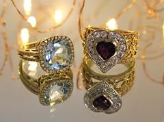 18ct Diamond, Topaz and Amethyst rings (Gold Coast Jewellery Loans) Tags: diamonds topaz amethyst topazring amethystring finejewelry 18kgold 18ctgold goldring gemstones diamondring goldcoast brisbane diamond jewellery goldbuyer pawnbroker