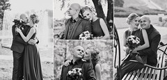 ... (Lena Ivashchenko) Tags: woman man flower bouquet bride groom she he nature people love wedding bw monochrome park