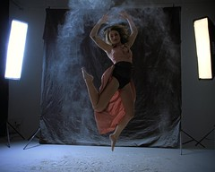 Angelique in Action [making of] (reinh_3008) Tags: workshop jump woman dancer sportive action girl beautiful flash flour shooting sony alphaday 2019 hovering intheair effect mehlshooting dust model modell angelique poulain yogarebel