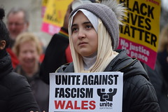 Anti racism march Cardiff (jan.ashdown) Tags: people streetphotography street portrait face antiracism wales cardiff march demonstration