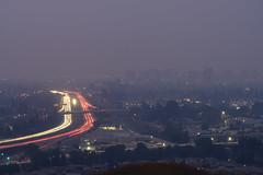 Smokey Skies over San Jose (Bob Nastasi) Tags: carstreaks sanjose highway87 smokeysky smoke california z7