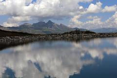 Reflections (roland_tempels) Tags: supershot switzerland nature water mountains reflectons kleinescheidegg