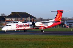 VT-SQD   Bombardier Q400 Dash 8   SpiceJet (JRC   Aviation Photography) Tags: bombardierdash8 bombardier q400 boh eghh spicejet vtsqd