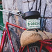 Antique bicycle with Guatemalan plate