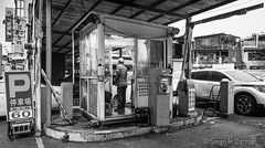 parking at dusk (steve: they can't all be zingers!!! (primus)) Tags: sonya7r canonfd28mmf28 wideangle wide canon 28mm 28mm28 primelens prime primecanonlens monochrome bw blackwhite blackwhitephotos taiwan taichungtaiwan taichung