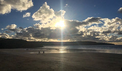 Broad Haven Autumn Sunshine (Andy.Gocher) Tags: andygocher iphone iphone6s pembrokeshire westwales southwales southwestwales broadhaven beach coastline coast water sky skyscape sunshine sunrays clouds cloudscape