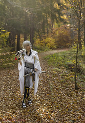 Sylvia and the golden leaf path (saromon1989) Tags: cosplay cosplayer cosplaying samurai japan portrait autumn anime animes 日本 アニメ あにめ ニコン nikon d7200 immersive forest nature