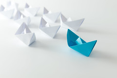 Leadership (nithiyabhaskar) Tags: blue boat boats boss business competition concept cruise different direction first fleet follow front group guide industrial industry influence journey key keyperson lead leader leadership manager navy origami paper person race sail sailing sea ship ships start steady success supervise supervision team transport transportation travel vessel voyage white malaysia