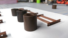 INGOTS (Set and Centered) Tags: model railroad weathering ho scale 187 athearn motor industrial junk machines ingots scratchbuilt rust steel freight cars gon railroading weathered effects car loads
