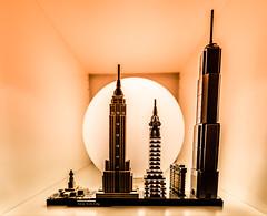 NYC SUNSET (DOS82) Tags: nyc lego architecture architektur city skyscrapers empirestatebuilding worldtradecenter chryslerbuilding