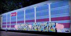 (timetomakethepasta) Tags: purge erupto a2m freight train graffiti art ferromex autorack