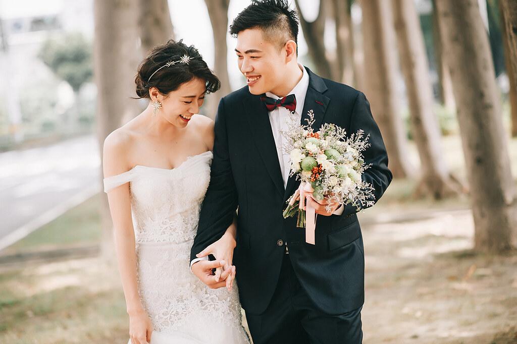 [美式婚紗]士展 & 寶蓮 / 馬路草地
