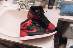 My bred and butter. (mixxxxy) Tags: shoes air jordan jordans 1 bred