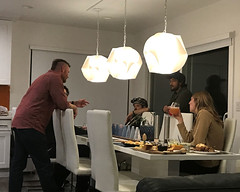 019 Conversation Over Hors D'oeuvres (saschmitz_earthlink_net) Tags: 2018 california southerncaliforniagrotto christmasparty losangelescounty baldwinhills windsorhills party climbing practice