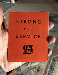 Strong for Service - leaflet describing the formation of London Transport, 1933 (mikeyashworth) Tags: mikeashworthcollection curwenpress cwbacon logo lostlogo flyingsnail londontransport londonpassengertransportboard lptb 1933 transportephemera typography graphicdesign strongforservice civicethos curwensans