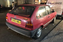 (Sam Tait) Tags: cl coupe spot spo car retro classic red polo vw volkswagen 1993 13 1300