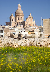 Siggiewi across the fields (archidave) Tags: siggewi alta malta baroque church dome tower campanile parish siggiewi