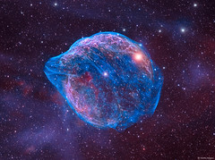 Sharpless 308 (AstroSocSA) Tags: sharpless308 sh2308 rcw11 lbn1052 hiiregion canismajor wolfrayetstar ha oiii bicolor bicolour hydrogenalpha narrowband martinheigan astronomy astrophotography