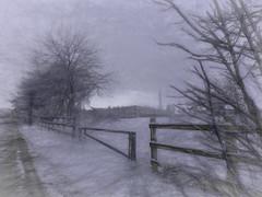 On Our Way to Erica's (Bill Eiffert) Tags: visit journey snow landscape emotion feeling impression pictorial dxo nik topaz winter