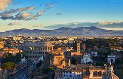 Golden Hour in Rome (Claudio_R_1973) Tags: rome roma hills capital goldenhour italia italy landscape cityscape città outdoor sunset colosseum viadeiforiimperiali